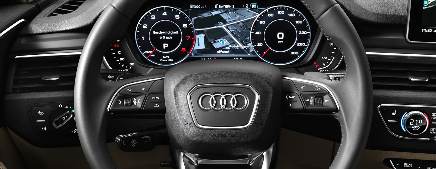 Safety features and interior of the 2018 Audi A4 - available at our Audi dealership near Edmond, OK.