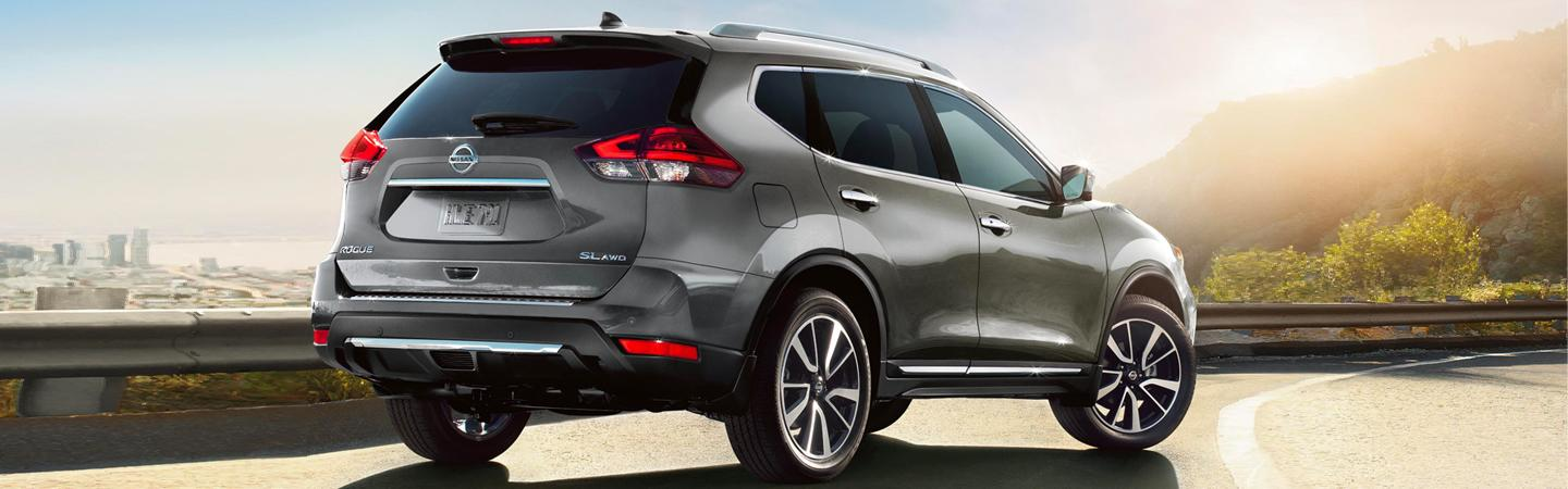 Rear view of the left side of the 2020 Nissan Rogue