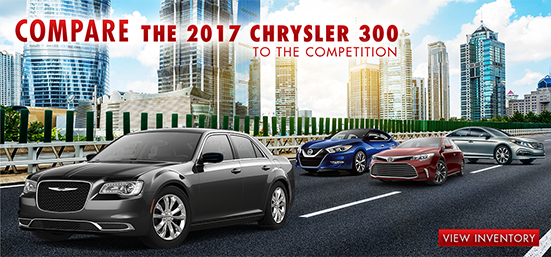 Compare the 2017 Chrysler 300 to the competition, Southern Chrysler Jeep Greenbrier, Chesapeake, Virginia Beach, Suffolk, Norfolk, Portsmouth, VA