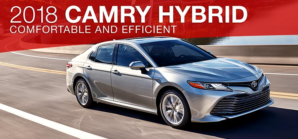 The 2018 Toyota Camry Hybrid is available at Toyota of Tampa Bay in Tampa, FL