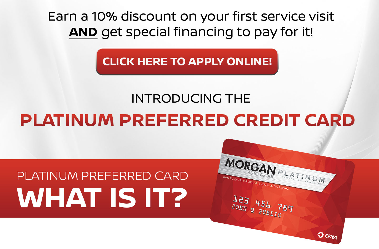 Click Here to apply online   Platinum Preferred Credit Card