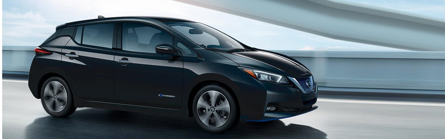 2019 Nissan Leaf parked, available at Bob Moore Nissan in Oklahoma City, OK.