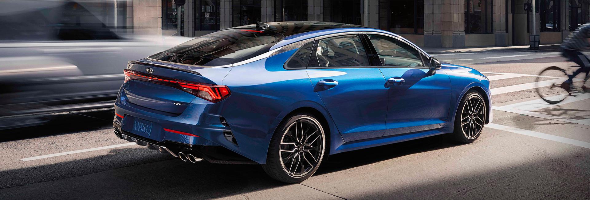 Blue 2021 K5 in motion