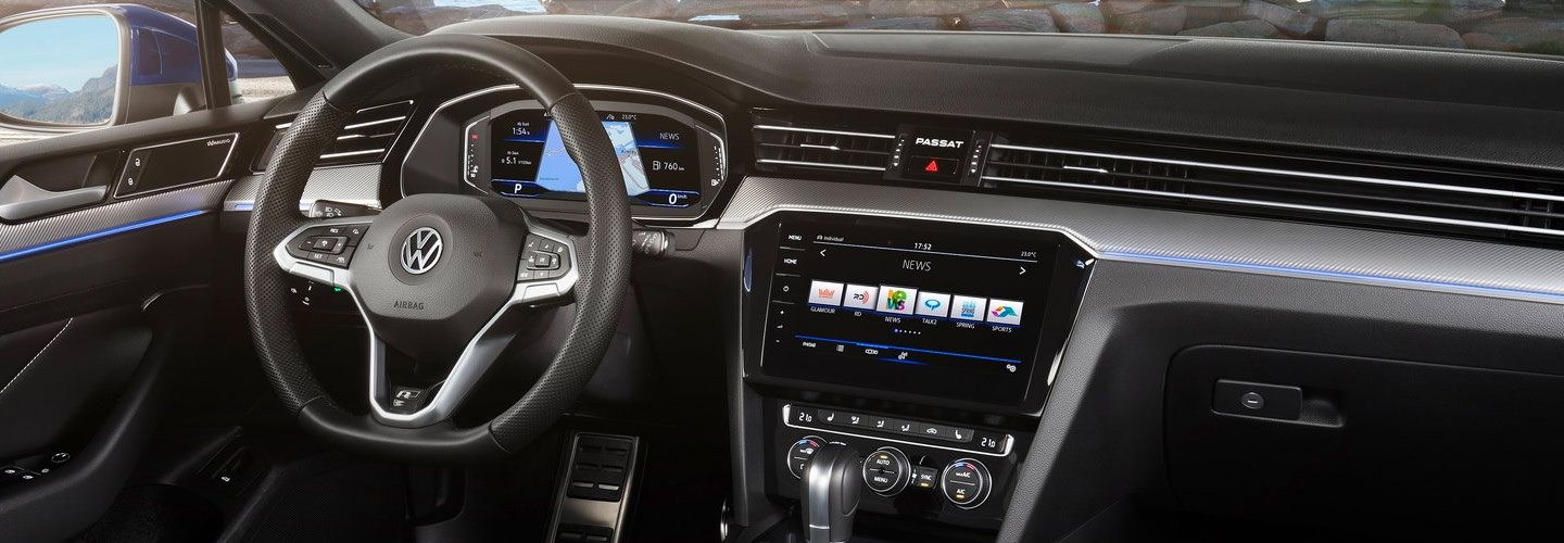Safety features and interior of the 2019 Volkswagen Passat - available at our Volkswagen dealership near Gainesville, FL.