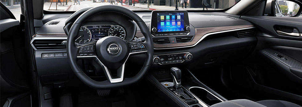 Interior of the All-New 2019 Nissan Altima available at Bob Moore Nissan in Norman, Oklahoma