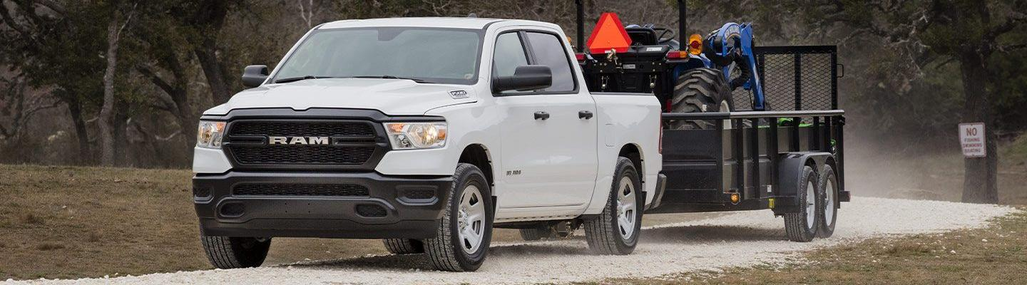 The 2020 RAM 1500 is available at Marlow Jeep dealership in Front Royal.
