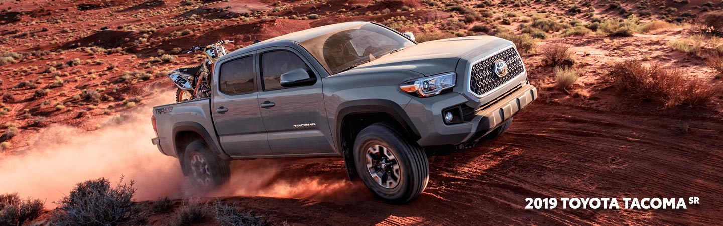 Exterior of the 2019 Toyota Tacoma available at our Toyota dealer in Columbus, GA