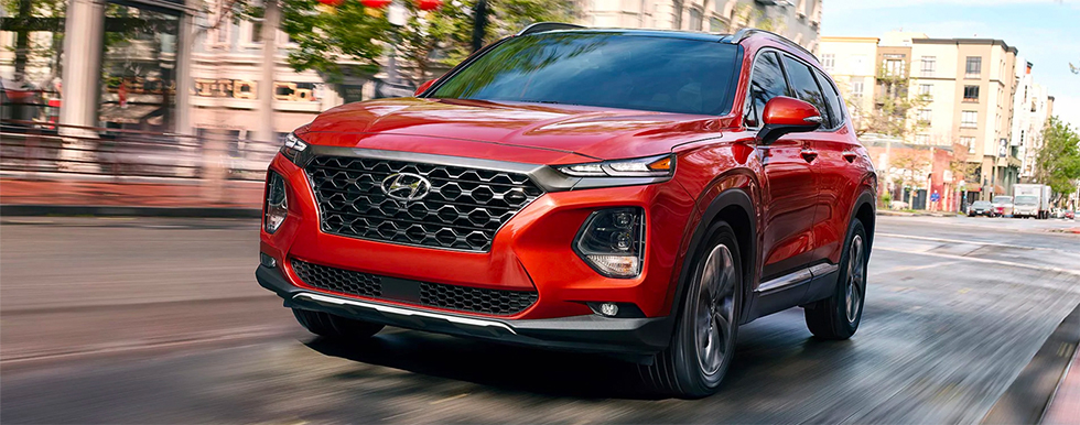 Safety features and interior of the 2019 Hyundai Santa Fe - available at our Hyundai dealership near Philadelphia.