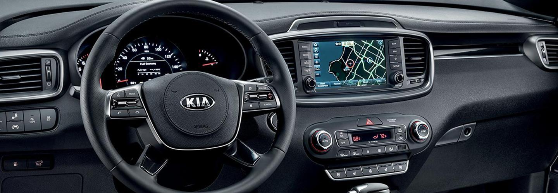 Interior image of the 2020 Kia Sorento.