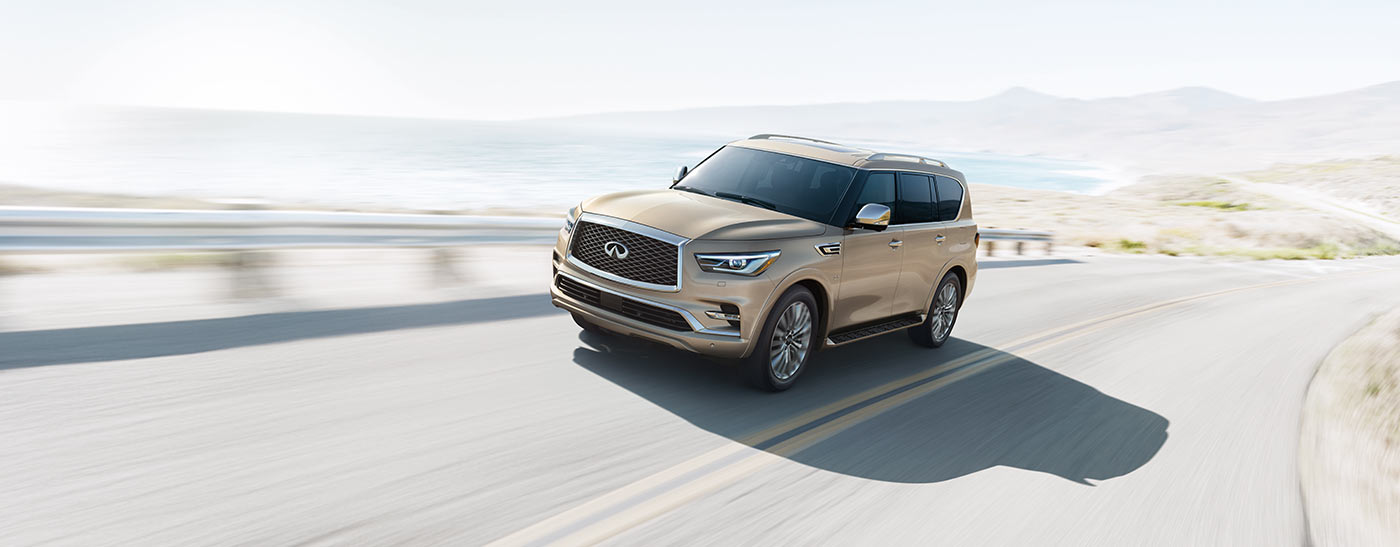Exterior of the INFINITI QX80 available at our Oklahoma City car dealership.