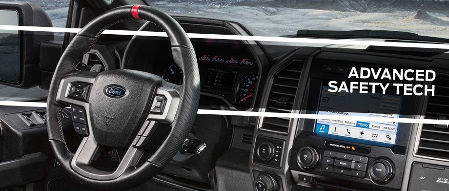 Safety features and interior of the 2018 F-150 - available at Brighton Ford near Denver and Thornton