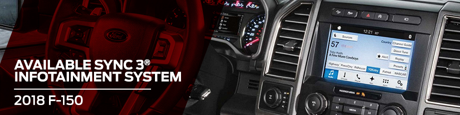Safety features and interior of the 2018 F-150 - available at Jim Tidwell Ford near Woodstock and Marietta