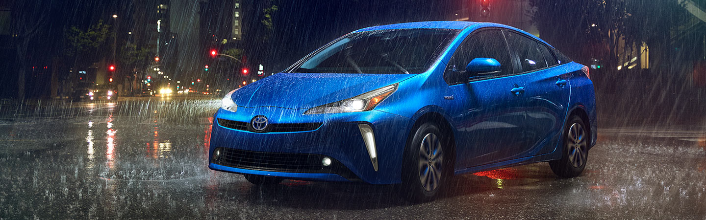 Exterior of the 2019 Toyota Prius available at our Columbus Car Dealership