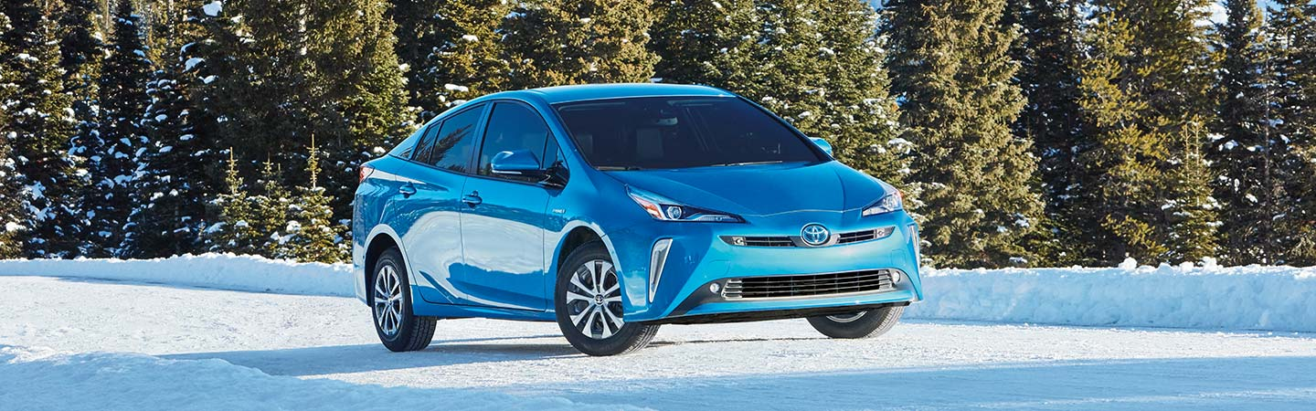Exterior of the 2019 Toyota Prius available at Rivertown Toyota