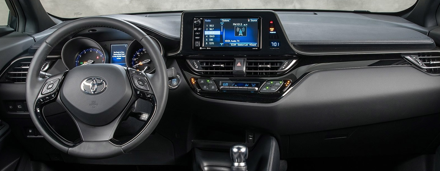 Interior and technology features of the 2019 Toyota C-HR available at our Rock Hill car dealership