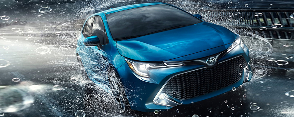 Exterior of the 2019 Toyota Corolla Hatchback - available at our Toyota dealership near York, SC