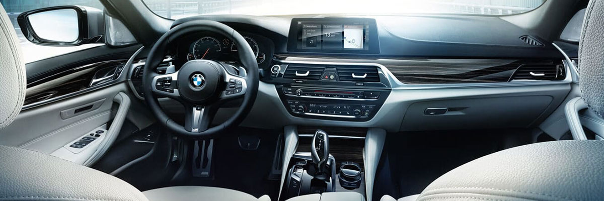 Safety features and interior of the 2018 BMW 5 Series - available at BMW of Columbia near Lexington and Irmo, SC