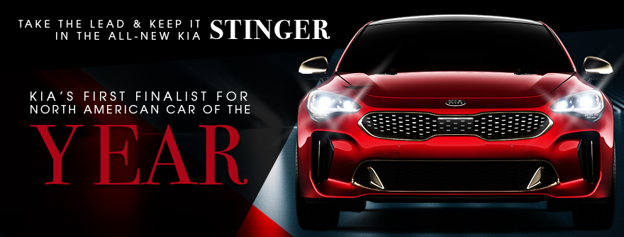Take the Lead & Keep It In The All-New Kia Stinger