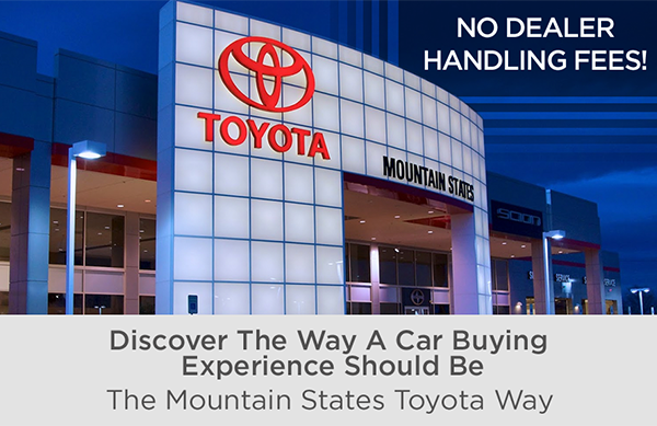 Toyota Dealership Denver >> Why Buy From Our Toyota Dealership In Denver Mountain States Toyota