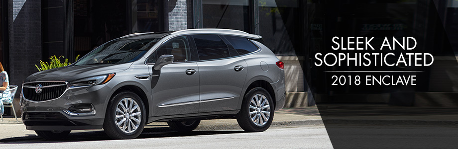 The 2018 Enclave is available at Rivertown Buick GMC in Columbus, GA