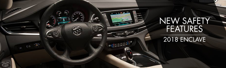 Safety features and interior of the 2018 Enclave - available at Rivertown Buick GMC near Columbus and LaGrange, GA