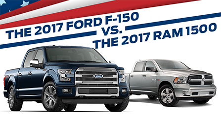 The 2017 F-150 vs. the 2017 RAM 1500 near Land O' Lakes