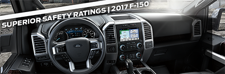 Safety features and interior of the 2017 F-150 - available at Ford of Port Richey near  Land O' Lakes and Lutz