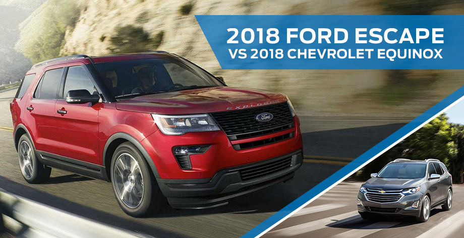The 2018 Ford Escape vs 2018 Chevrolet Equinox at Ford of Port Richey near Land O' Lakes, FL