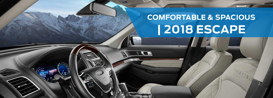 Safety features and interior of the 2018 Ford Escape - available at Ford of Port Richey near Lutz and Land O' Lakes, FL