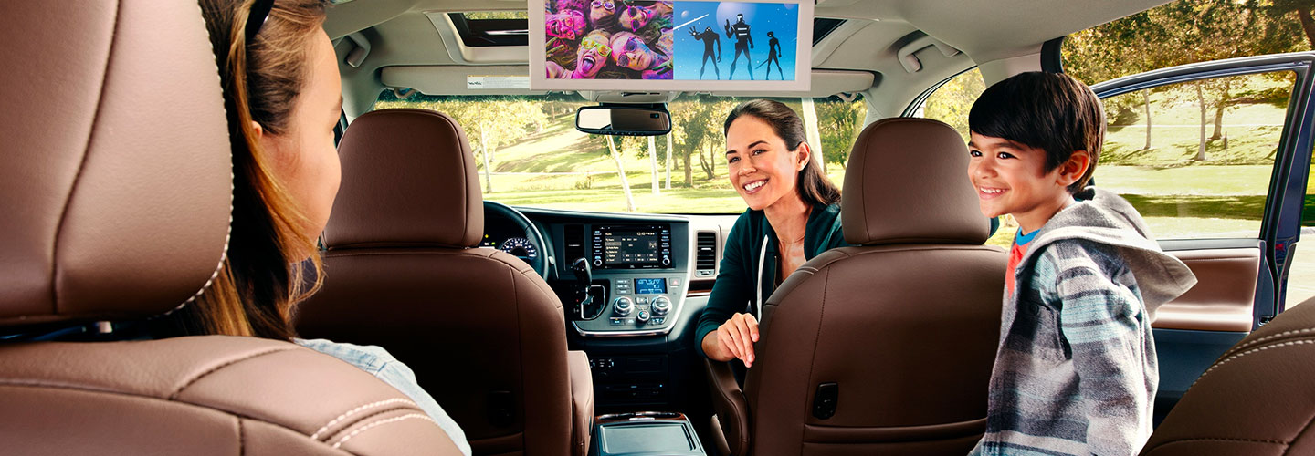 Interior and safety features of the 2020 Toyota Sienna available at Toyota of Rock Hill