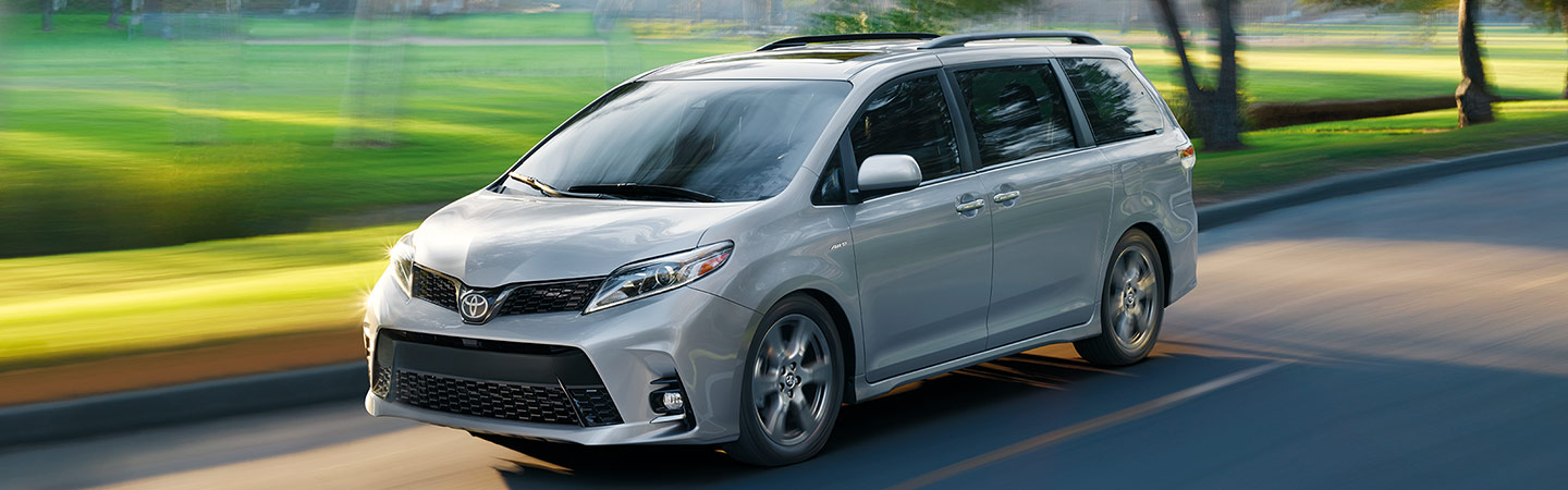 Exterior of the 2020 Toyota Sienna available at our Rock Hill car dealership