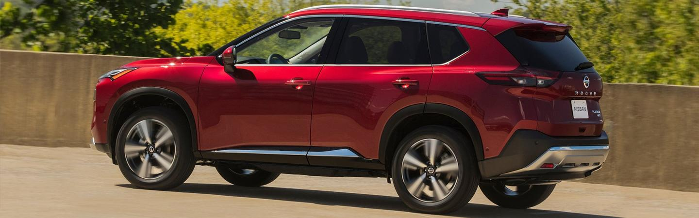 Rear view of the 2021 Nissan Rogue