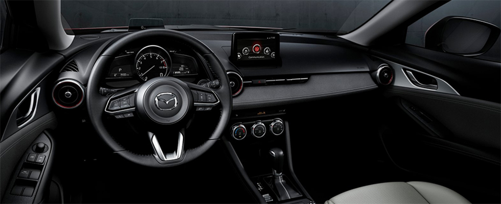 Safety features and interior of the 2019 Mazda CX-3 - available at Naples Mazda near Bonita Springs and Cape Coral, FL