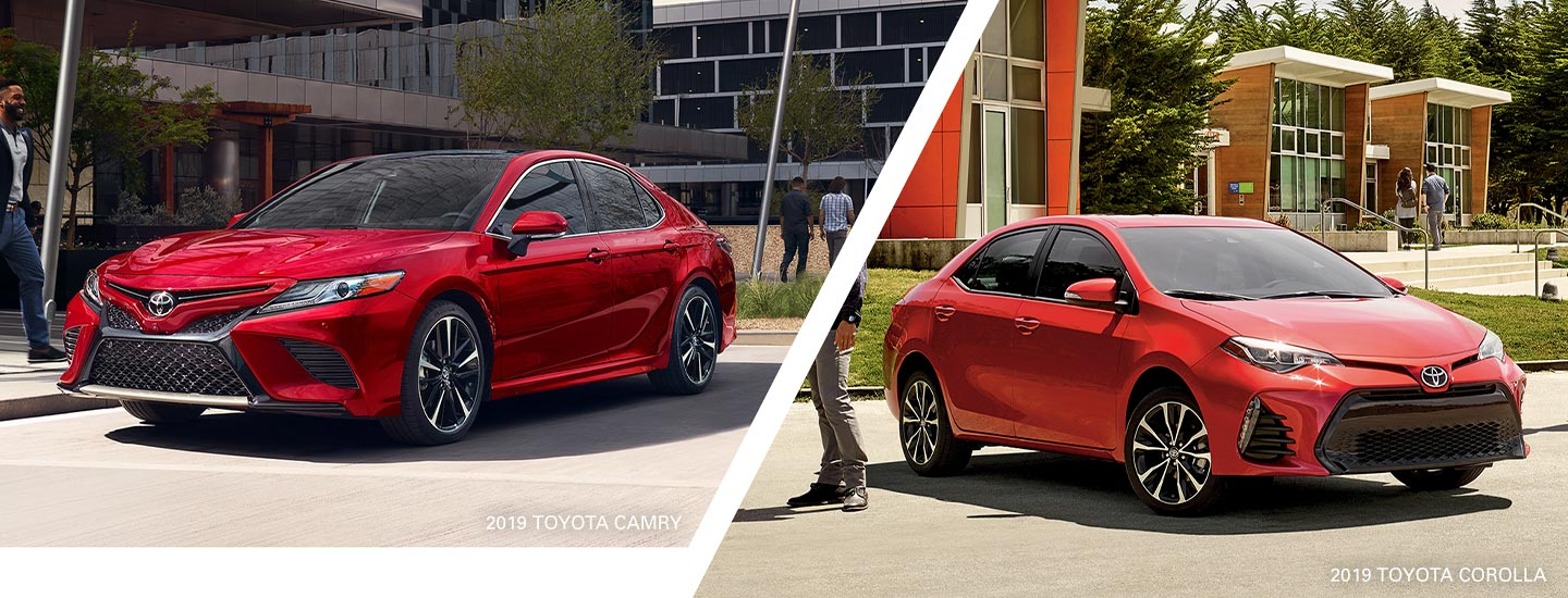 Compare the 2019 Toyota Corolla to the 2019 Toyota Camry at World Toyota