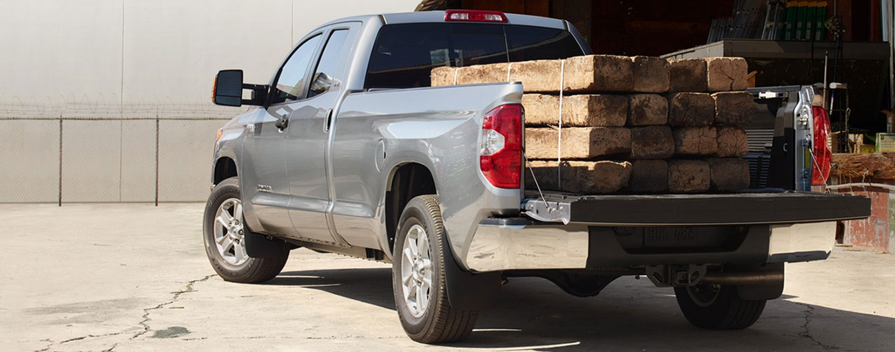 Tundra loaded with wood