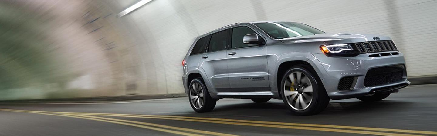 Exterior image of the 2020 Jeep Grand Cherokee for sale at Marlow Jeep dealer in Front Royal VA.
