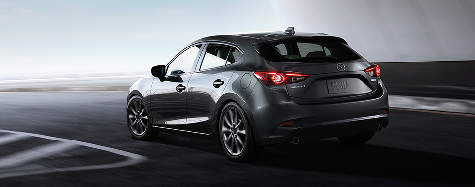 Rear view of Mazda3