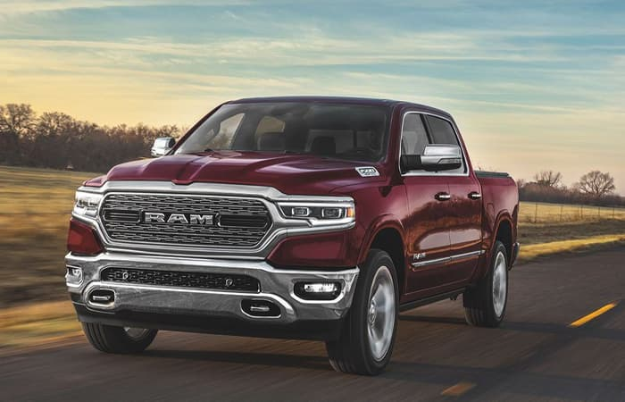 Exterior of the 2020 RAM 1500