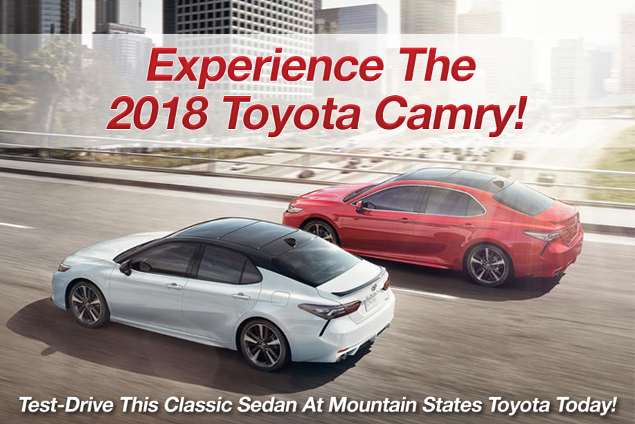 new 2018 Toyota Camry for sale at Mountain States Toyota, Denver, Aurora, CO