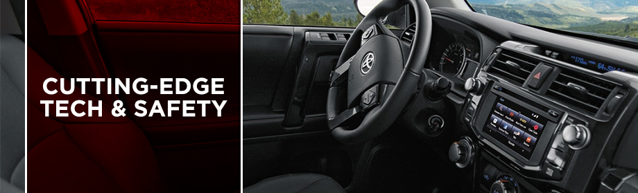 Safety features and interior of the 2018 4Runner - available at Toyota of Rock Hill near Fort Mill and Charlotte, NC