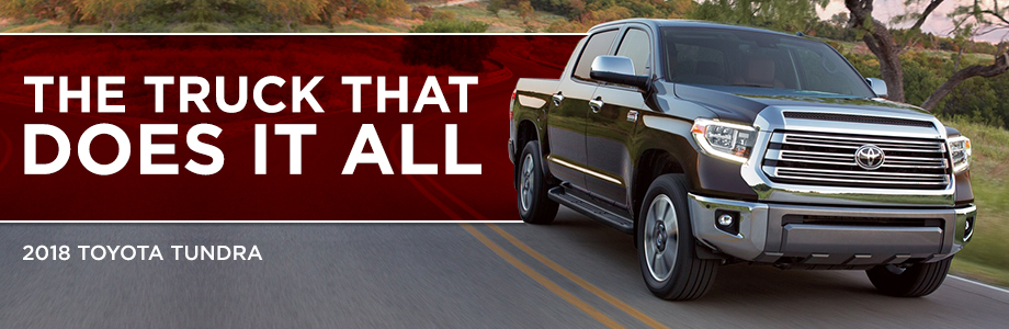 The 2018 Tundra is available at Toyota of Rock Hill in Rock Hill, SC