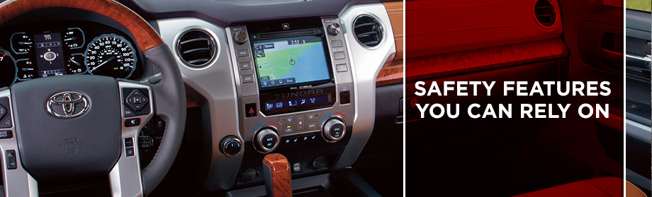 Safety features and interior of the 2018 Tundra - available at Toyota of Rock Hill