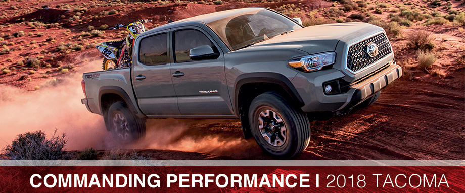 The 2018 Tacoma is available at Toyota of Rock Hill in Rock Hill, SC