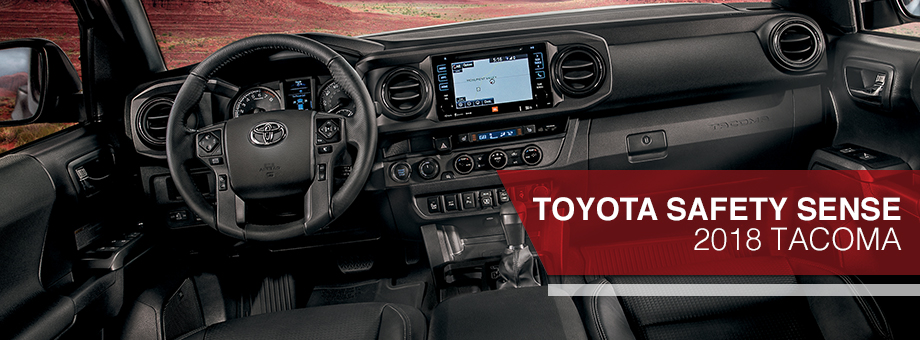 Safety features and interior of the 2018 Tacoma - available at Toyota of Rock Hill near Fort Mill and Charlotte, NC