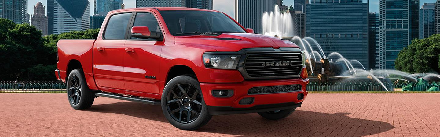 Exterior image of the 2020 Ram 1500 for sale in Homestead Florida