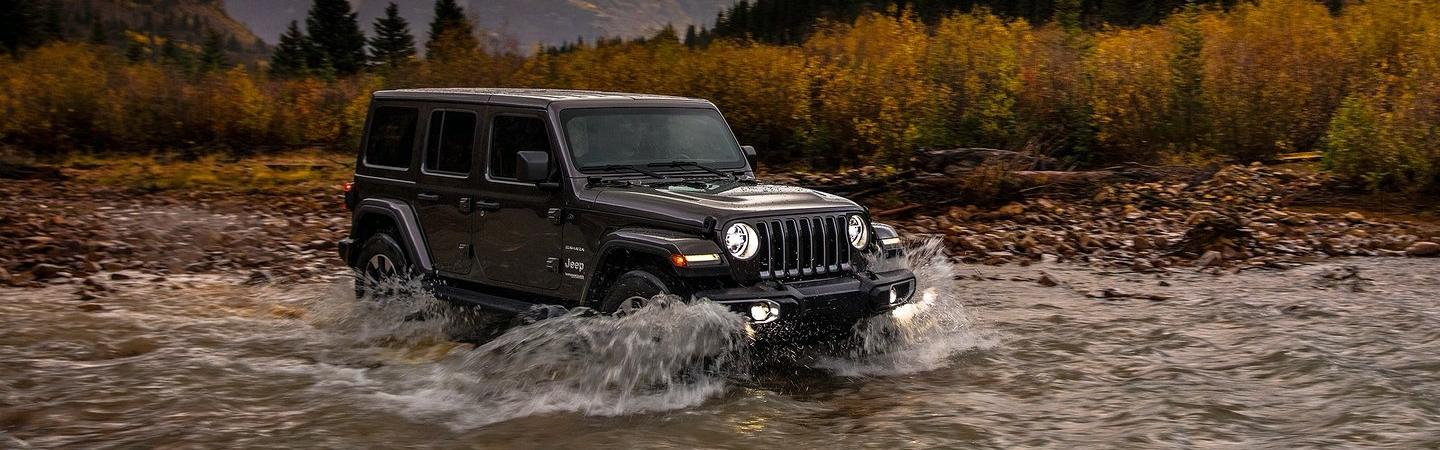 New Wrangler driving through water
