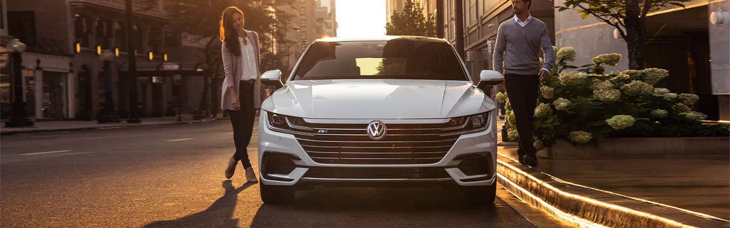 2019 Volkswagen Arteon - White - Front - Parked on the side of the road
