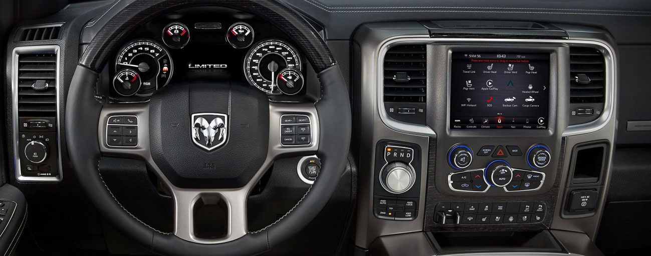 Safety features and interior of the 2019 RAM 1500 - available at our RAM dealer near Columbus, Ohio