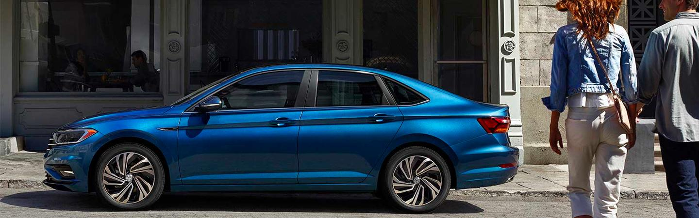 Exterior image of the 2020 VW Jetta for sale at Spitzer VW dealership