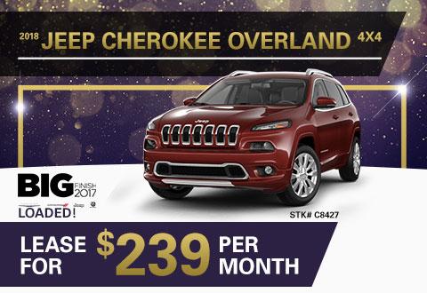 New 2018 Jeep Cherokee Overland 4x4